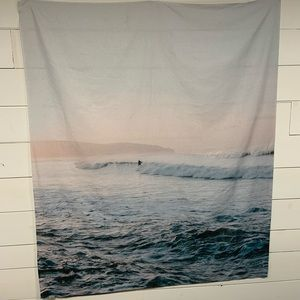 Surf at sunrise wall hanging coverlet